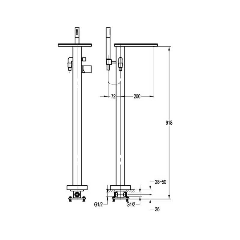 annecy floor standing bath shower mixer
