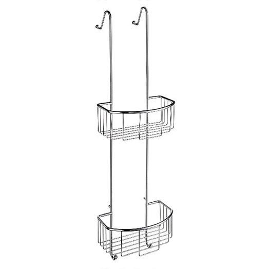 Smedbo sideline double hanging shower basket for Bathroom accessories baskets