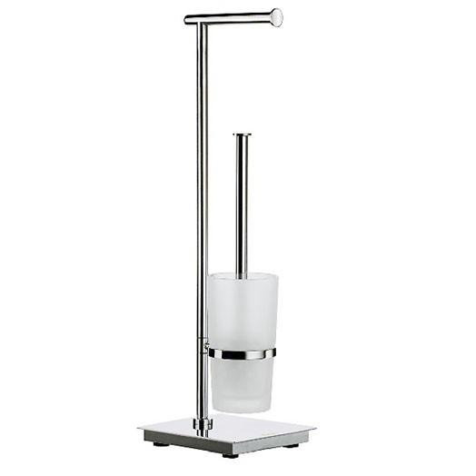 Outline Lite Square Toilet Roll & Brush Holder