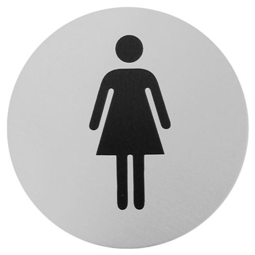 Urban Steel Female Bathroom Sign