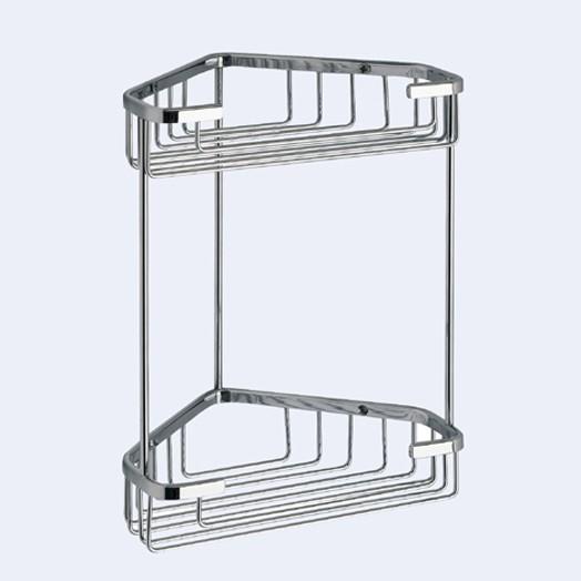 Double Shower Caddy Corner Basket