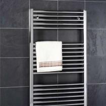 Design Flat 400 x 800 Chrome Towel Rail