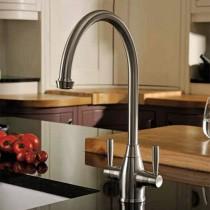 Brompton Dual Lever Mono Sink Mixer Pewter