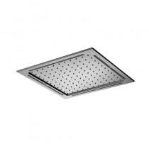 Aqualisa 365mm Square Flush Fit LED Metal Head