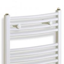 TS 600 x 1430 Towel Rail Curved White Pack