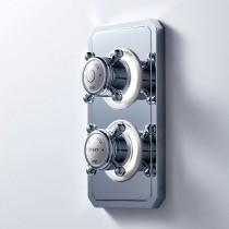 Crosswater Belgravia Crosshead Dual Outlet Digital Bath/Shower HP DUOBSBLHP