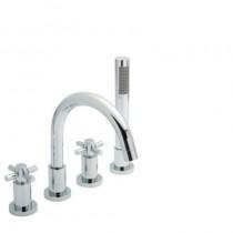 Tec Crosshead 4 Hole Bath Shower Mixer