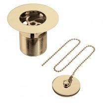 Bristan Luxury Sink Waste with Solid Brass Plug Gold